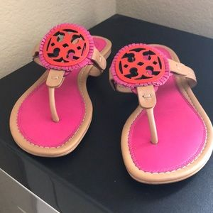 Tory Burch Sandals in Bright Pink and Orange
